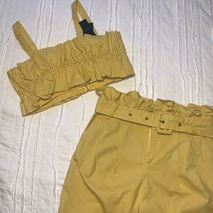 NWT Crop Top Pant Set